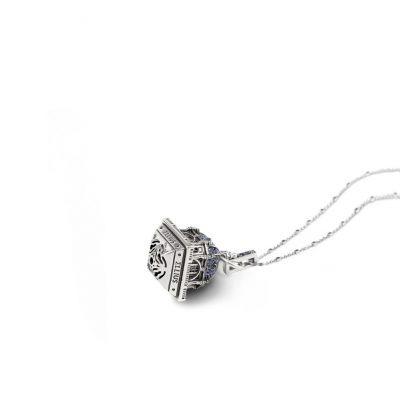 Collana Cupola Cattedrale Almudena Madrid gioielli argento Ellius retro