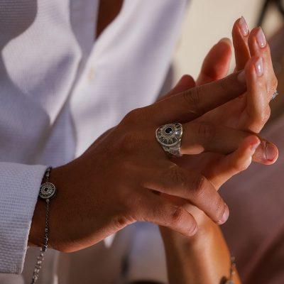 anello e bracciale uomo natività