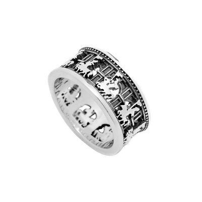 anello sfilata del cavaliere donna argento ellius