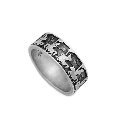 anello sfilata del cavaliere uomo argento ellius