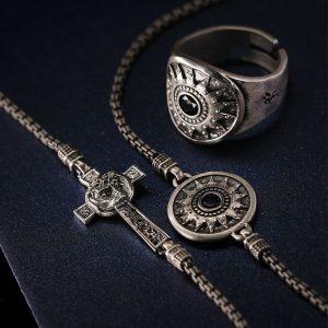 anello stella uomo bracciale stella e bracciale croce volto natività