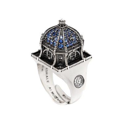 Anello Cupola Cattedrale Almudena Madrid gioielli argento Ellius