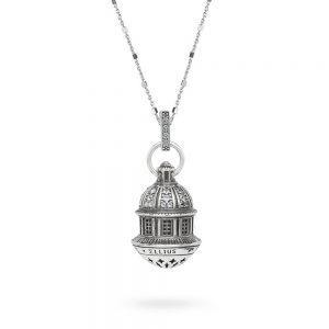 Collana Cupole Cupola Santuario Madonna di San Luca gioielli argento Ellius