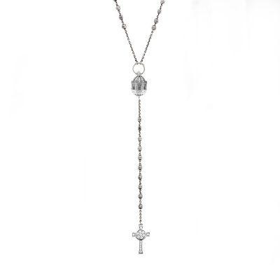 Collana Rosario Sant Agata Catania e croce Natività gioiello argento ellius