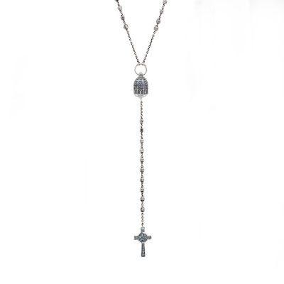 collana Rosario Corigliano Calabro e Croce Natività gioiello argento ellius