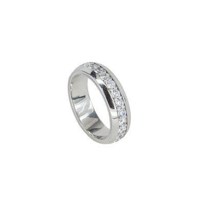 anello con pietre bianche rodio solaris donna gioielli argento ellius