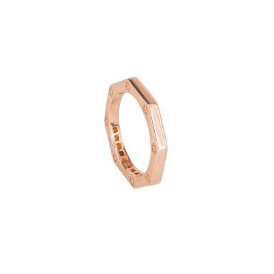 anello ottagono rose liscio solaris donna gioielli argento ellius