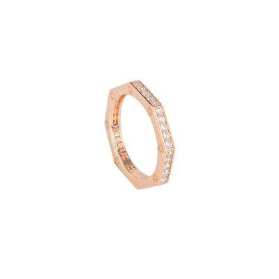 anello ottagono rose pietre bianche solaris donna gioielli argento ellius