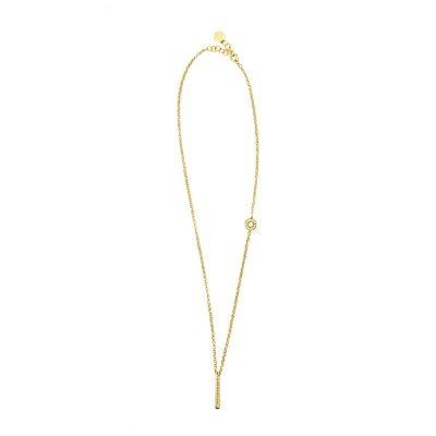 collana donna raggio a ciondolo dorato pietre champagne solaris gioielli argento ellius