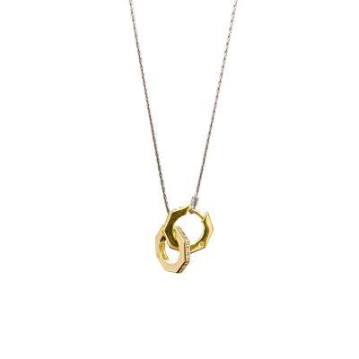 catena per orecchini ottagono rodio solaris gioielli argento ellius